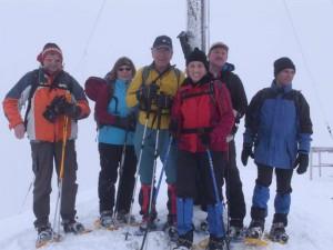 Bergwanderung mit Schneeschuhen in den Bayerischen Voralpen